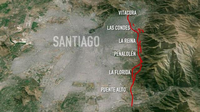 Falla de San Ramón podría producir terremotos con intensidad mayor al 27-F