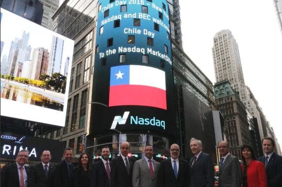 Nasdaq dio la bienvenida al Chile Day en Nueva York