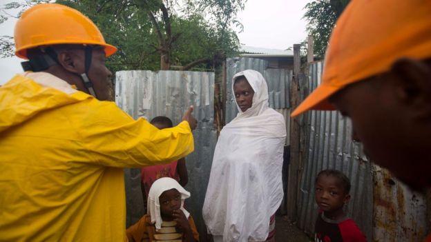 Matthew llegó a la costa de Haití con vientos de más de 230 kilómetros por hora, uno de los huracanes más fuertes desde 2007.