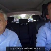 [VIDEO] El Carpool Karaoke de Sebastian Piñera conducido por Felipe Alessandri