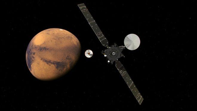 El módulo Schiaparelli entra el miércoles en Marte y desciende a su superficie