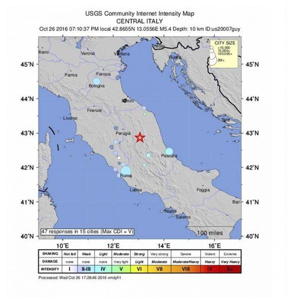[VIDEO] Terremoto de magnitud 5,4 grados se siente en el centro de Italia