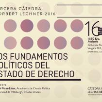 """Cátedra Norbert Lechner """"Los fundamentos políticos del estado de derecho"""" en UDP"""