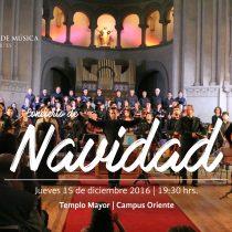 Concierto gratuito de Navidad del Instituto de Música UC en Templo Mayor de Campus Oriente
