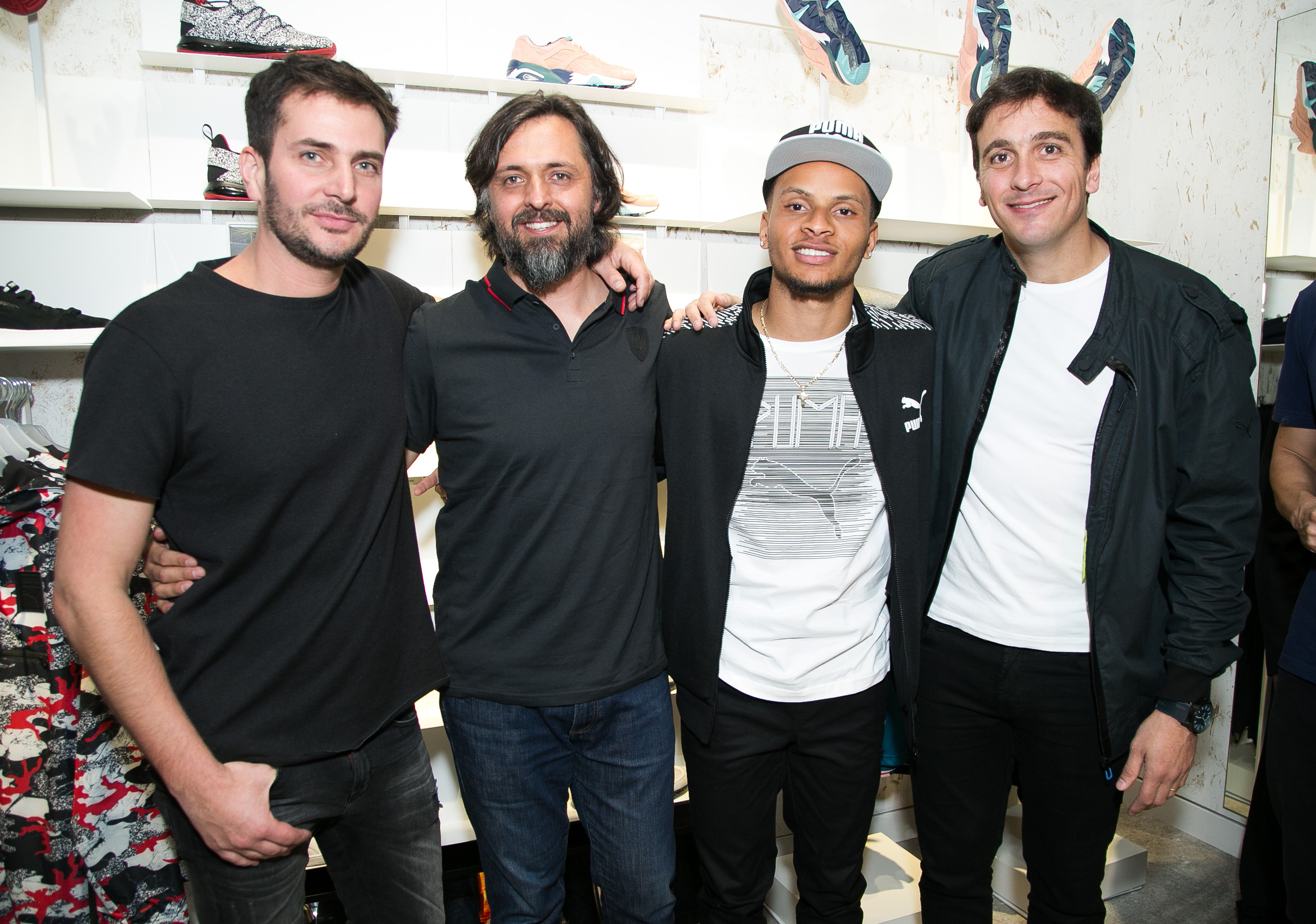 Max Campino, Sebastian Diaz, Andre de Grasse y Ezequiel Bagnardi