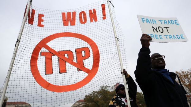El TPP es objetado por algunos sindicatos estadounidenses que consideran que su aplicación afectaría negativamente a la mano de obra local.