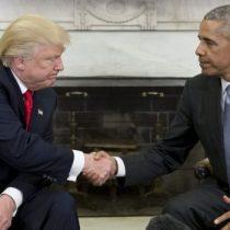 Seis incómodas fotos del encuentro entre Trump y Obama