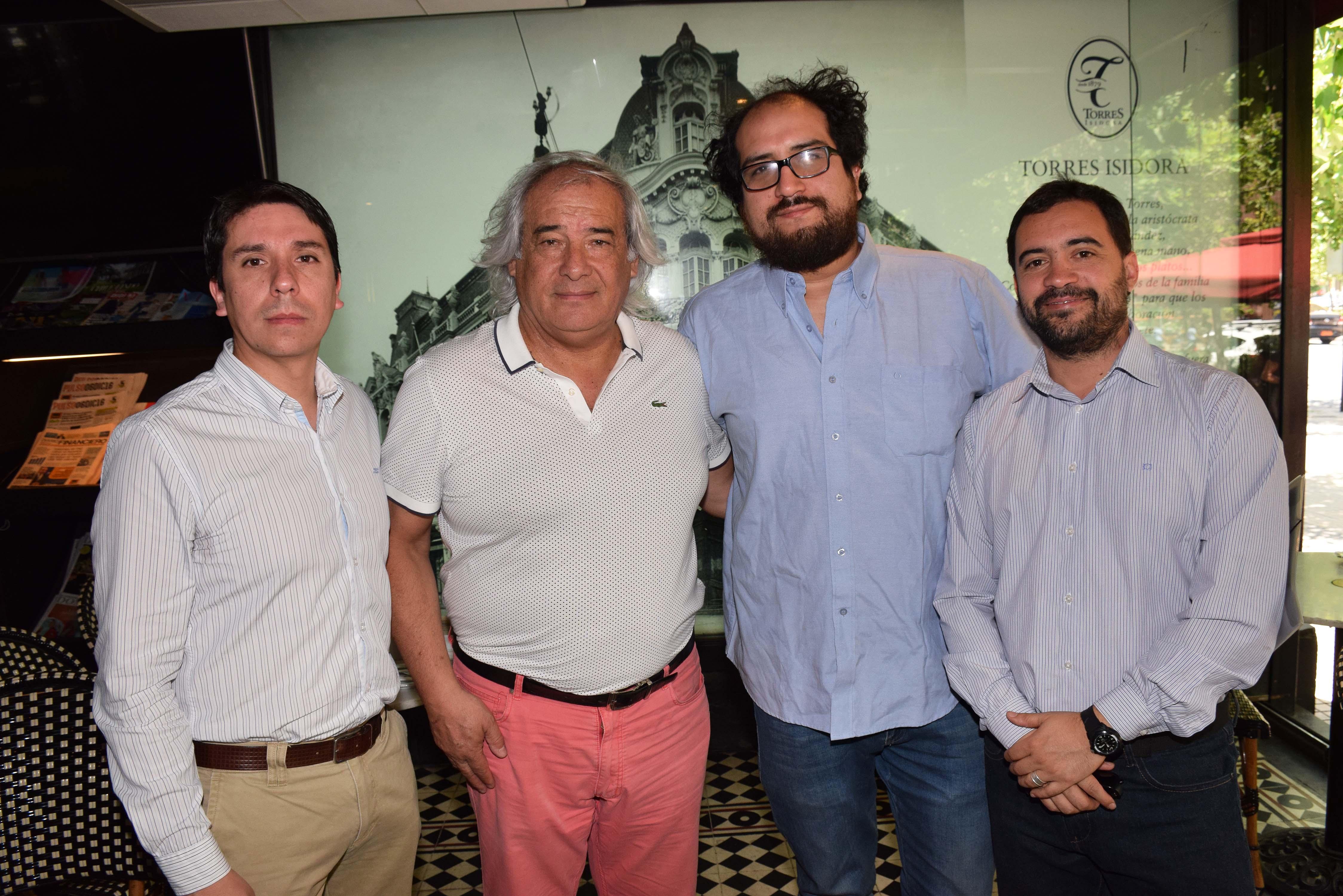 Alejandro Quense, Enrique Hormazábal, Roberto Santander y Ricardo Basáez