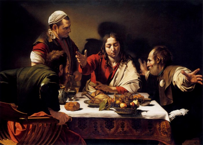La cena de Emaús. National Gallery, Londres
