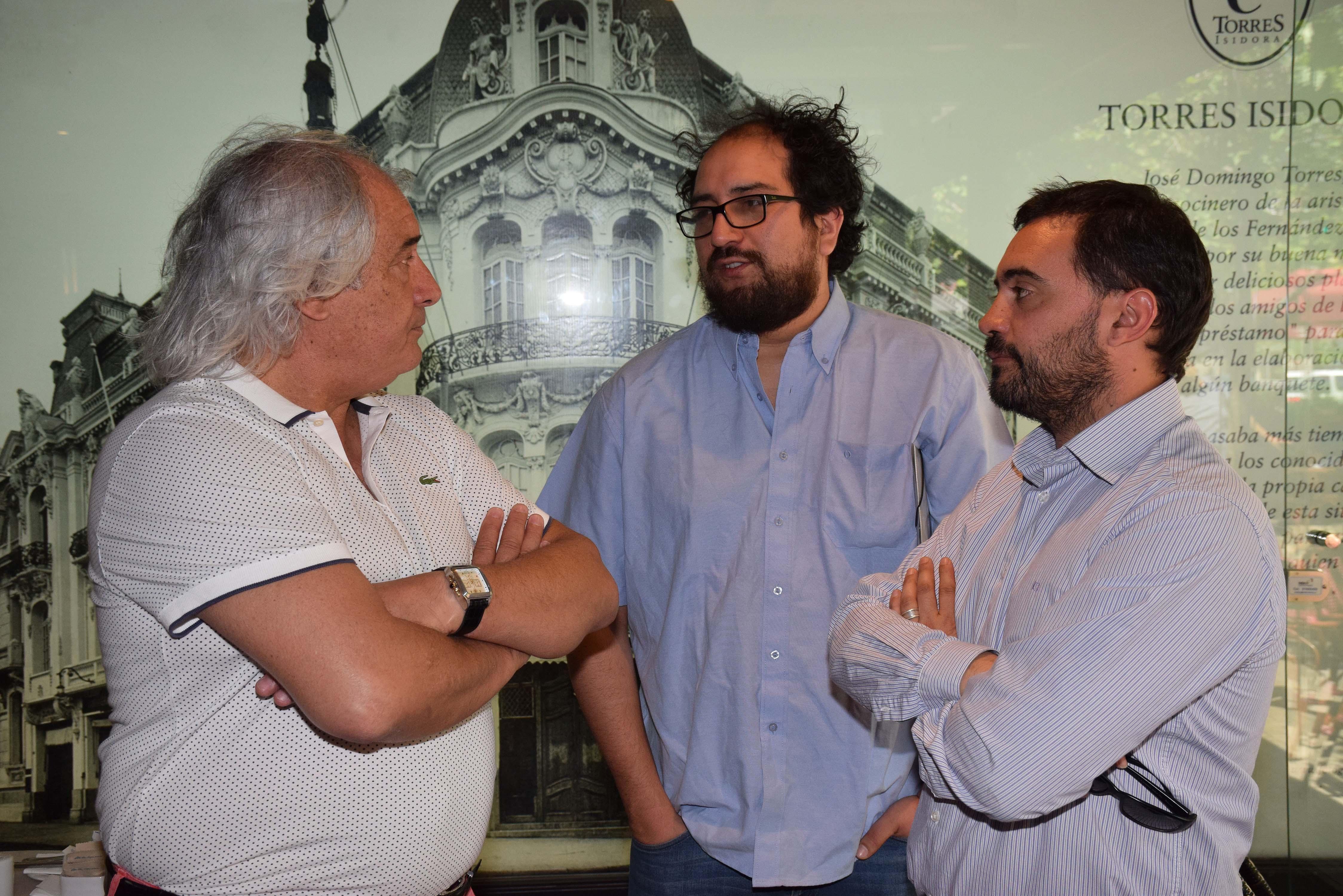 Enrique Hormazábal, Roberto Santander y Ricardo Basáez