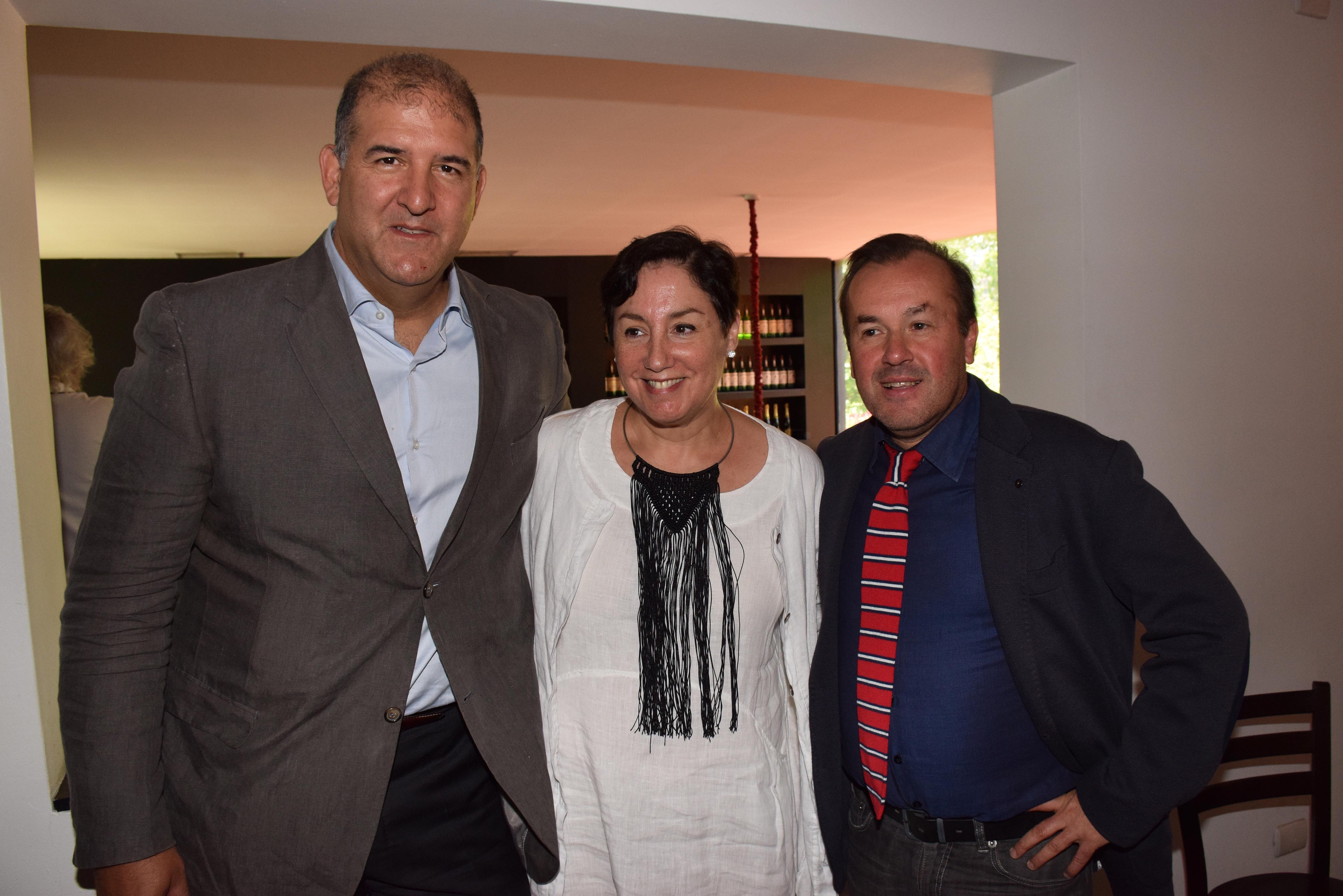 Iván Weissman, Beatriz Sánchez y Mirko Macari