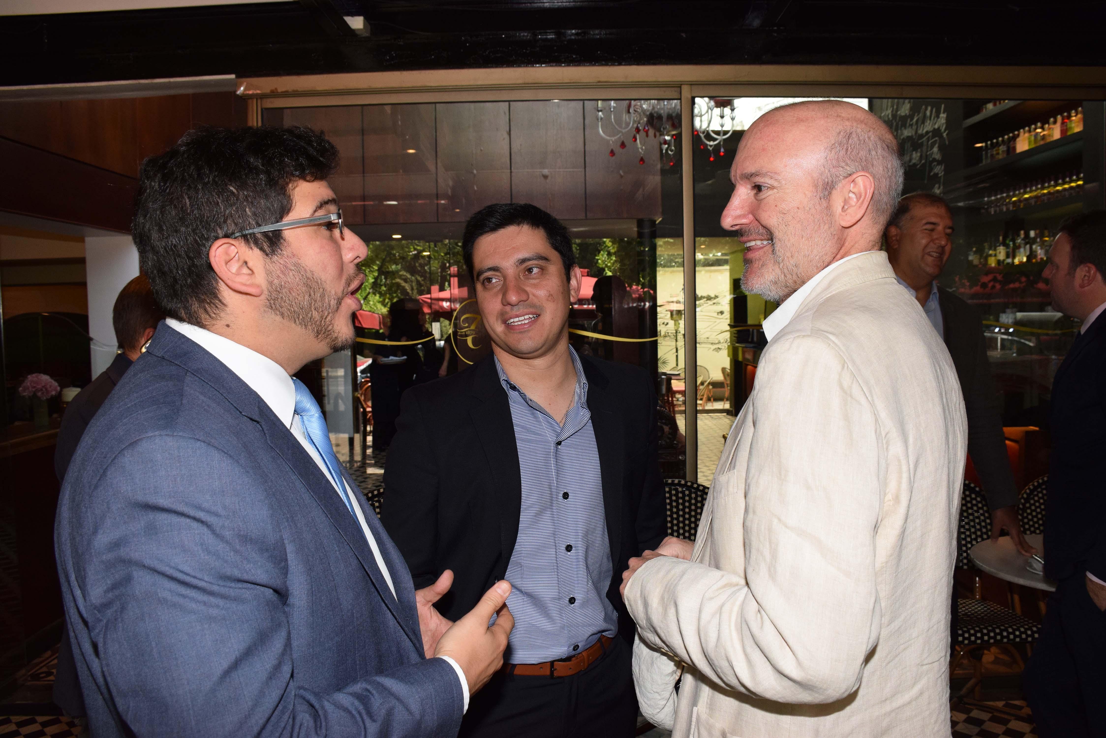 Juan Miguel Nasur, Marco Orellana y Federico Joannon