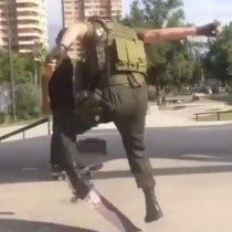 [VIDEO] Las acrobáticas piruetas de un carabinero se viralizan en redes sociales