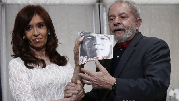 Fernández de Kirchner fue particularmente cercana a Sala en su presidencia. Hoy aboga por su liberación, en este caso con Lula.