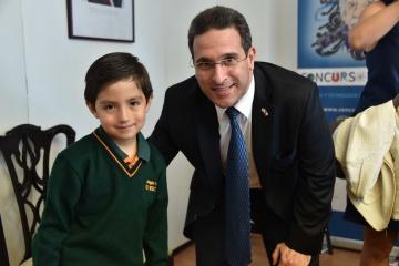 Tomás Lillo y el embajador de Israel, Eldad Hayet.