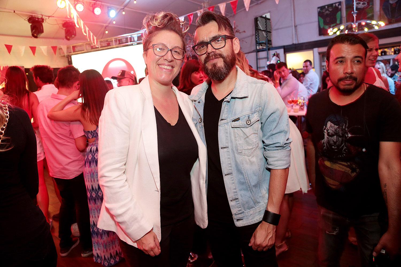 Alejandra Ricciulli y Jorge Olguin