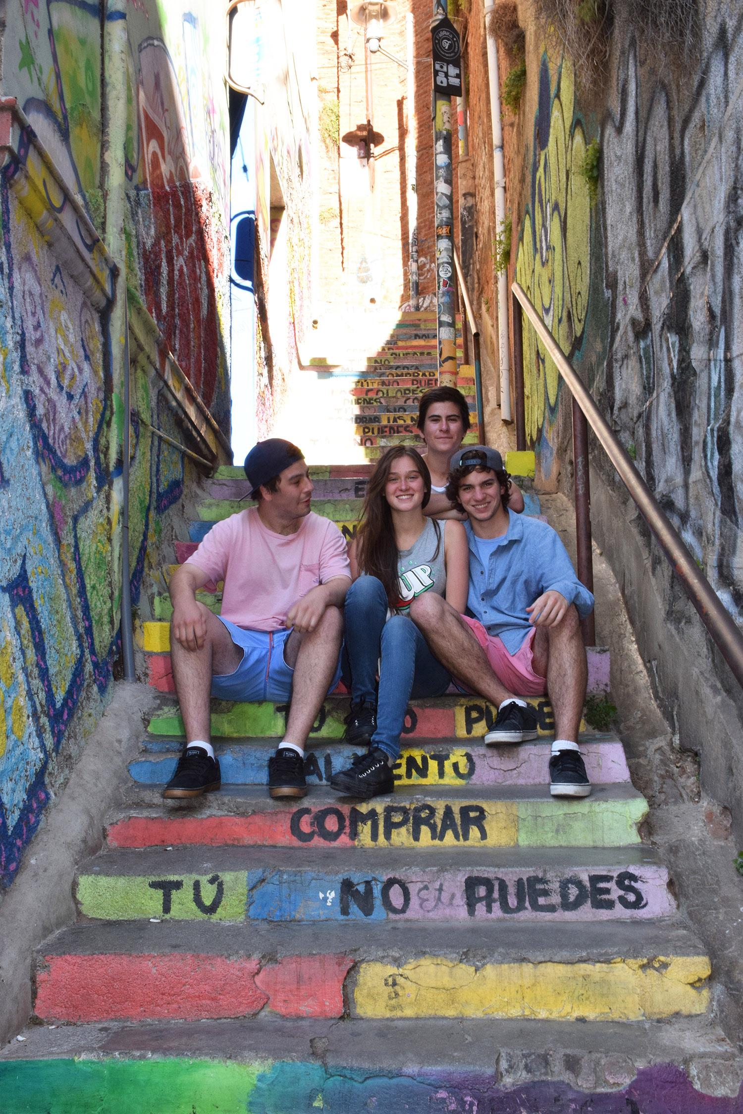 Martín Ruiz-Tagle, Antonia Lorca, Benjamín Pavez y Rodrigo Robles