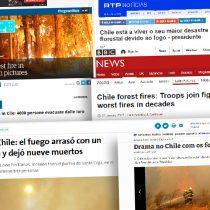 Cómo los medios internacionales han cubierto los incendios en Chile