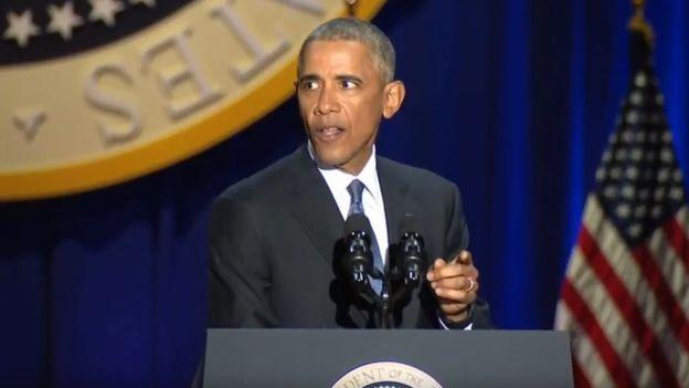 """Los seguidores de Obama interrumpieron su discurso con gritos pidiendo """"cuatro años más""""."""