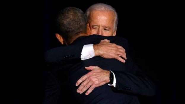 Otra de las personas a las que más Obama agradeció en su discurso fue al vicepresidente Joe Biden.