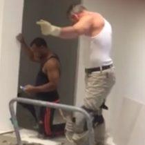 [VIDEO] El albañil bailarín que arrasa en las redes sociales