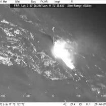 [VIDEO] Los incendios vistos desde el avión de la Armada que permite ver a través del humo y guiar al SuperTanker