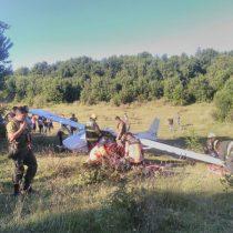 Avioneta cae en Villarrica con cuatro tripulantes a bordo
