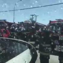 [VIDEO] En conmovedora caravana, cuerpo de bombero fallecido viaja hacia Talagante