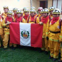 LLegan 46 brigadistas peruanos para ayudar a combatir incendios forestales