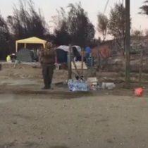[VIDEO] Santa Olga: Carabineros juegan fútbol con niños afectados por los incendios forestales