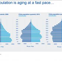Nos estamos poniendo viejos: así se vería la pirámide etaria hacia 2030
