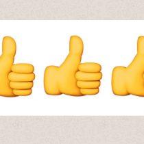 Pulgares arriba para los emojis