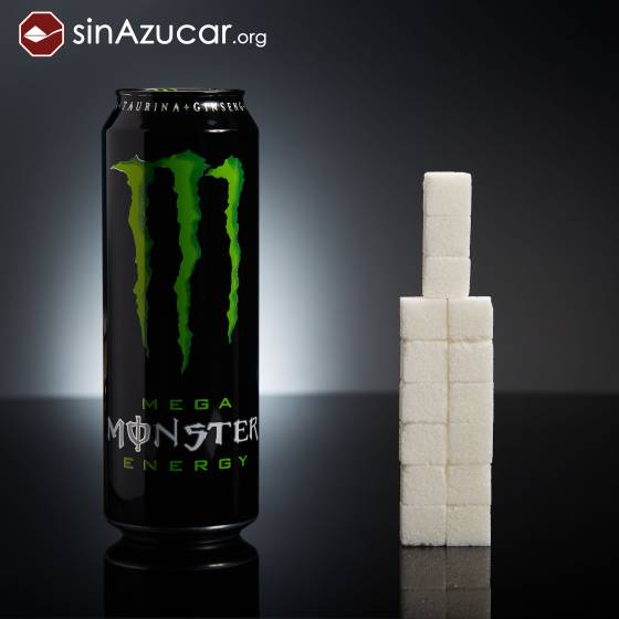 Una lata de Monster (553ml) tiene 60 gramos de azúcar: 15 terrones. . SINAZUCAR.ORG