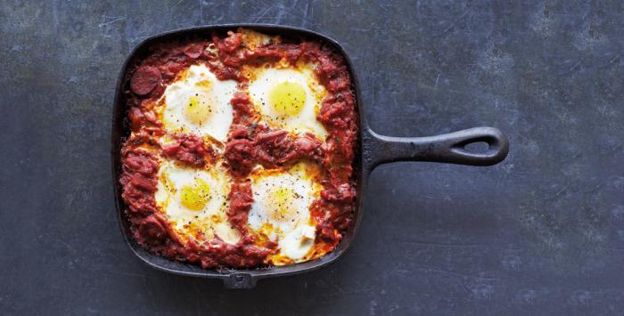 huevos-tomates