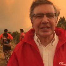 [VIDEO] Incendios: Joaquín Lavín y su familia fueron evacuados en Portezuelo