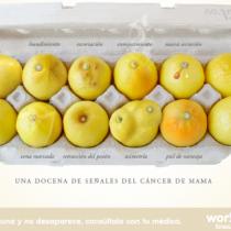 Los limones que ayudan a entender las señales del cáncer de mama