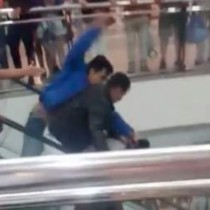 [VIDEO] Registran violenta pelea al interior de mall en Viña del Mar
