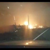 [VIDEO] Así fue como se expandió el fuego en la comuna de Santa Olga