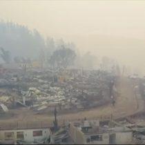 [VIDEO] El desolador panorama desde el aire de Santa Olga tras incendio forestal