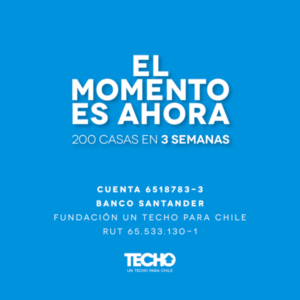 El momento es ahora: TECHO-Chile inicia reconstrucción de viviendas en zonas afectadas por el incendio