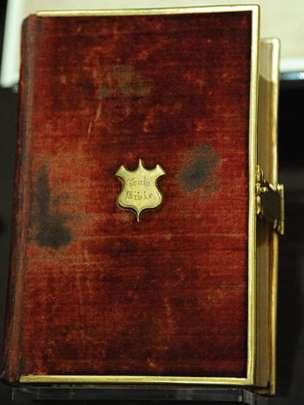 Esta fue la Biblia que utilizó Abraham Lincoln para juramentarse como presidente de Estados Unidos hace 156 años.