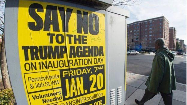 Además de la toma de posesión, hay varias protestas planificadas para este viernes y sábado en Washington DC.