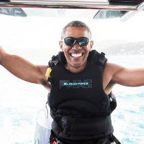 [VIDEO] El relajo de Obama practicando kitesurf tras 8 años de tenerlo prohibido por el Servicio Secreto
