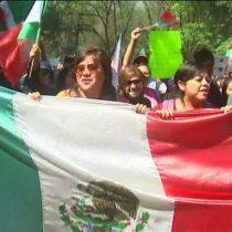 [VIDEO] Así fueron las marchas en México para rechazar las políticas de Donald Trump