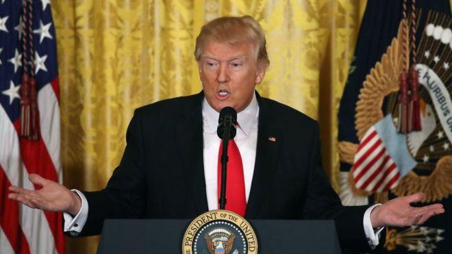 5 respuestas sorprendentes y polémicas de Donald Trump en su controvertida rueda de prensa