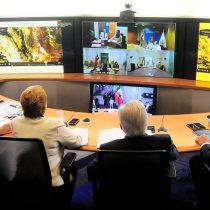 Videoconferencia de Michelle Bachelet para coordinar ayuda ante incendios que azotan a la región del Maule