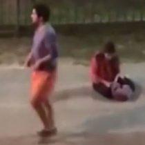 [VIDEO] Indignación por registro de hombre que golpea a su pareja embarazada en Valdivia (sujeto quedó en libertad)