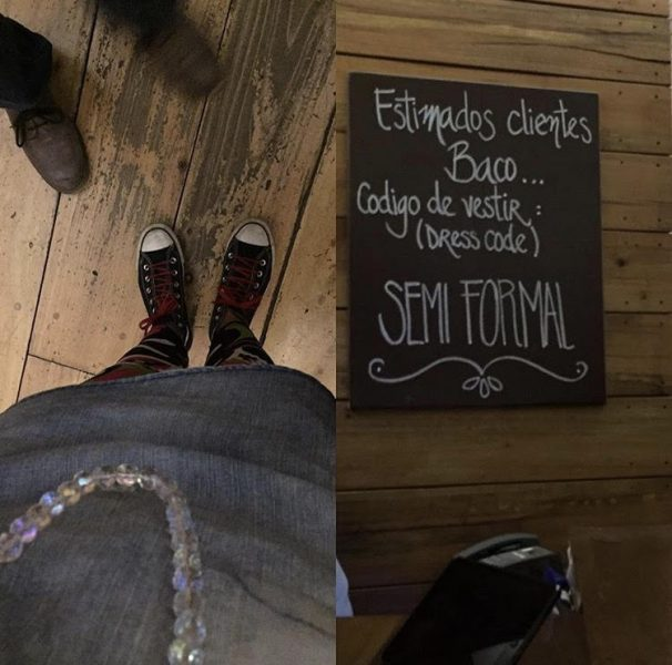 El dress code del restaurant Baco, ¿era Baco un dios cartucho?