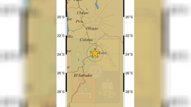 Fuerte sismo de 6,3 grados de magnitud afecta parte del norte de Chile