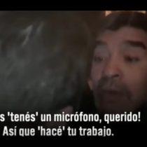 [VIDEO] Maradona tiene fuerte encuentro con la prensa española